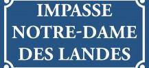 Plaque Impasse NDDL - 550300